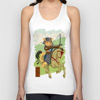 archer Tank Tops featuring The Archer by Ginger Breo