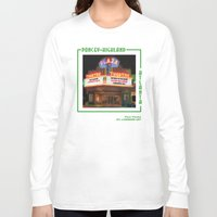 theatre Long Sleeve T-shirts featuring Plaza Theatre by ATL Landmark Art (Robyn Siani)