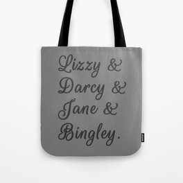 The Pride and Prejudice Couples I Tote Bag