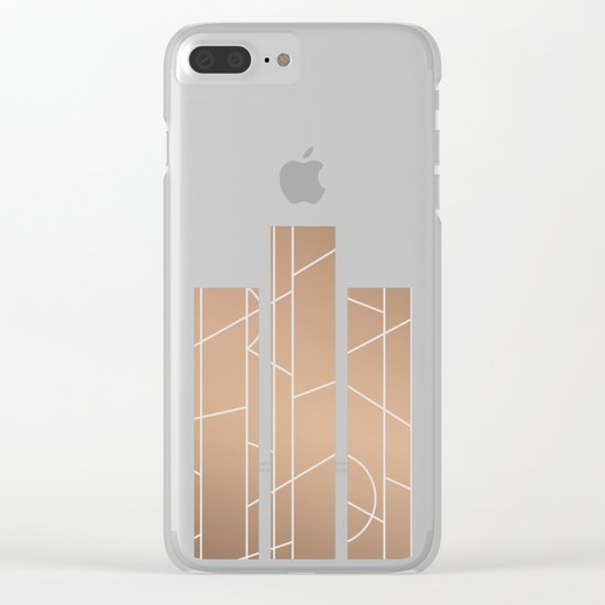 Patternbronze #3 Clear iPhone Case