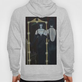 Woman in Black Velvet Hoody