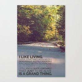 I like living - agatha christie Canvas Print