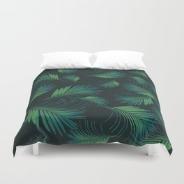 Tropical Night Palms Pattern #1 #tropical #decor #art #society6 Duvet Cover