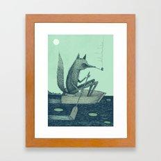 'Across The Lake' (Colour) Framed Art Print