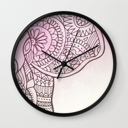 Elephant Hena Wall Clock