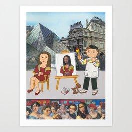 Suzette's Artist Art Print