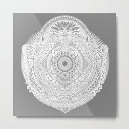 Metamorphic (gray) Metal Print