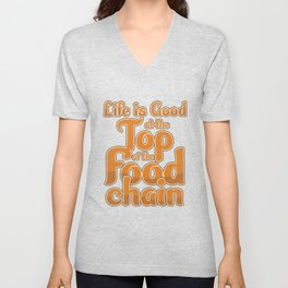 Culinary Arts Chef Grill Master Kitchen Cook Life Is, Good At The Top  Unisex V-Neck
