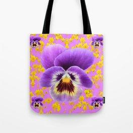 LILAC  PANSY SPRING DAFFODILS ART Tote Bag