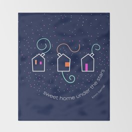 Sweet home under the stars Throw Blanket