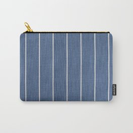 Denim Blue with White Pinstripes Carry-All Pouch