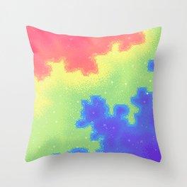 Rainbow Pride Flag Galaxy Throw Pillow
