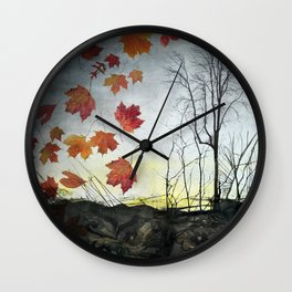 October (Falling) Wall Clock