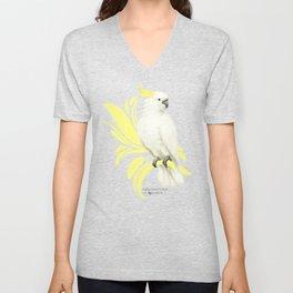 Sulphur Crested Cockatoo Unisex V-Neck