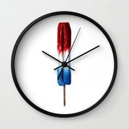 Patriotic Popsicle Wall Clock