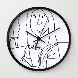 Caden's Mona Lisa Wall Clock