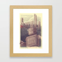 A City Snow-Bot Framed Art Print