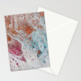 WHITE WASH   Fluid abstract art by Natalie Burnett Art Stationery Cards