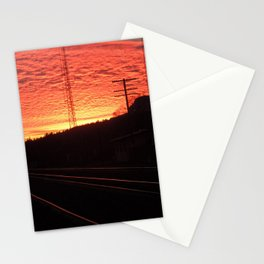Sunset Railroad Stationery Cards