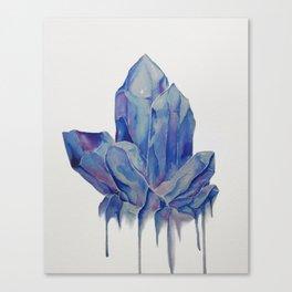 Blue Crystal Canvas Print