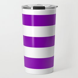 Violet (RYB) - solid color - white stripes pattern Travel Mug