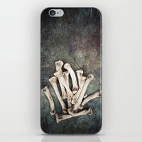 bones iPhone & iPod Skins featuring Bones by Maria Heyens