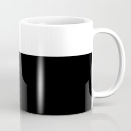 Color Block-Black and White Coffee Mug