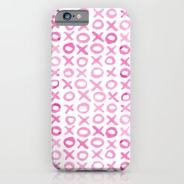 Xoxo valentine's day - pink iPhone Case