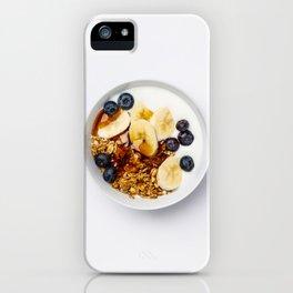 Healthy vegetarian breakfast iPhone Case