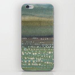 Landscape Dots- Blue iPhone Skin