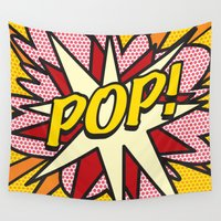 comic book Wall Tapestries featuring Comic Book POP! by The Image Zone