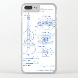 Electromagnetic Pickup Assembly for Guitar Vintage Patent Hand Drawing Clear iPhone Case