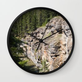 Through the Chasm Wall Clock