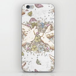 Retro Spring Love Birds iPhone Skin