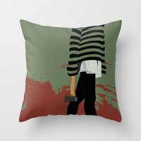 blood Throw Pillows featuring blood by Eda ERKOVAN