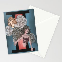 Geminis zodiac sign design Stationery Cards