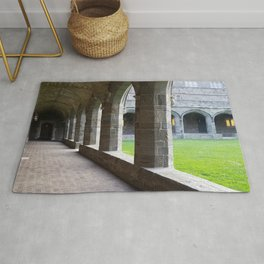 Bryn Mawr Cloisters Hallway and View to Interior Lawn Rug