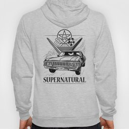 Supernatural Impala Black and White Hoody