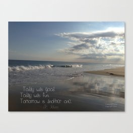 Today Was Good Canvas Print