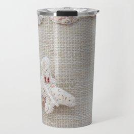 Seashells and urchins design Travel Mug