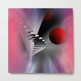 go upstairs Metal Print