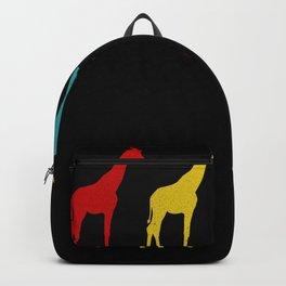 Retro Safari Giraffes Giraffe Lover Gift Backpack
