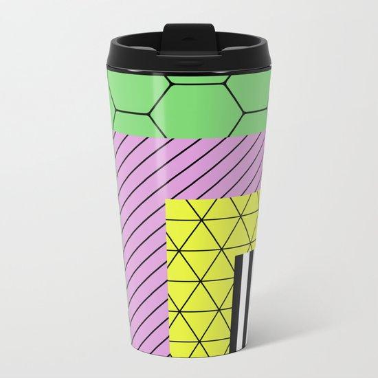 Go Bigger (Abstract, geometric, pastel designs) Metal Travel Mug