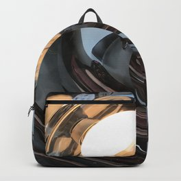 lighting reflects a circle, abstract smooth Backpack