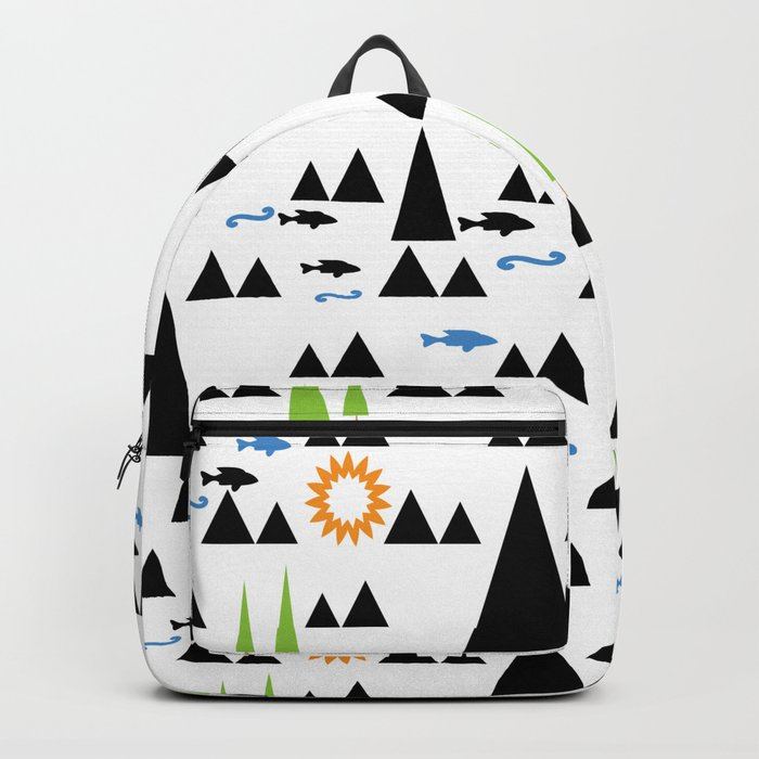 Ethnic simple pattern . Backpack