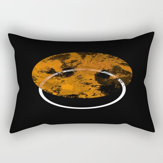 Collusion - Abstract in black, gold and white Rectangular Pillow