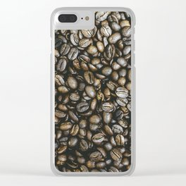 Coffee beans in Colombia Clear iPhone Case