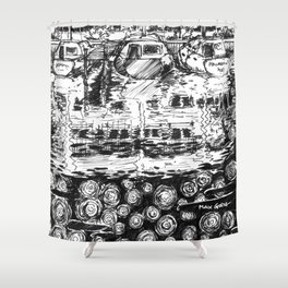 A Momentary Lapse Shower Curtain