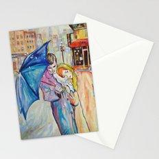 Paris, vintage, retro, love, painting. Stationery Cards