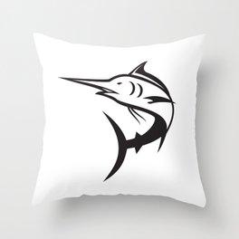Blue Marlin Icon Throw Pillow
